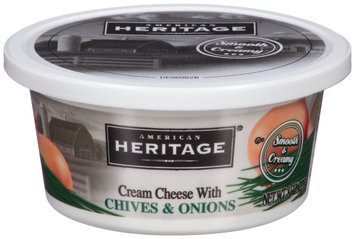 American Heritage® Cream Cheese with Chives & Onions 8 oz. Tub