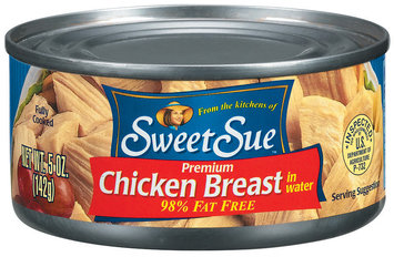 Sweet Sue Premium In Water 98% Fat Free Chicken Breast 5 Oz Can