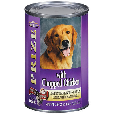 Springfield Prize Chopped Chicken Dog Food 22 Oz Can