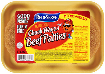 Redi-Serve Chuck Wagon Beef Patties Breaded & Cooked 9 oz. Tray