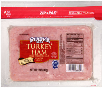 Stater Bros.® Turkey Ham 12 oz. ZIP-PAK®
