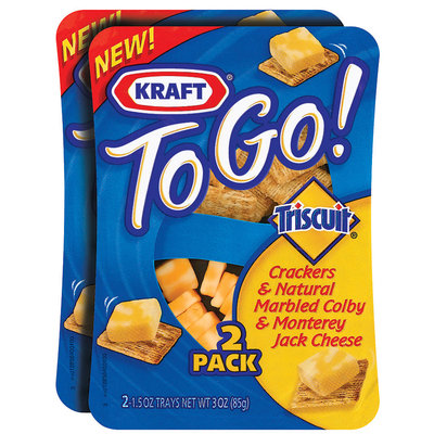 Kraft to Go! Triscuit & Colby Monterey Jack 1.5 Oz Crackers & Cheese 2 Pk Tray