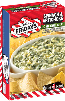 T.G.I. Friday's® Spinach & Artichoke Cheese Dip 4-8 oz. Boxes