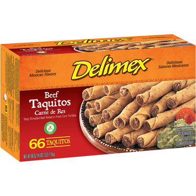 Delimex® Beef Taquitos 66 ct Box