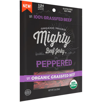 Organic Prairie® Organic Peppered Mighty Beef Jerky™ 2 oz.