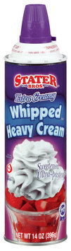 Stater Bros. Heavy Extra Creamy Sweetened Ultra-Pasteurized Whipped Cream