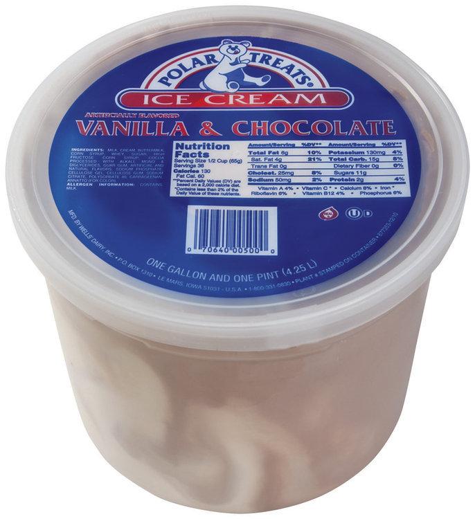 Polar Treats Vanilla Chocolate Ice Cream 4.5 Qt Pail