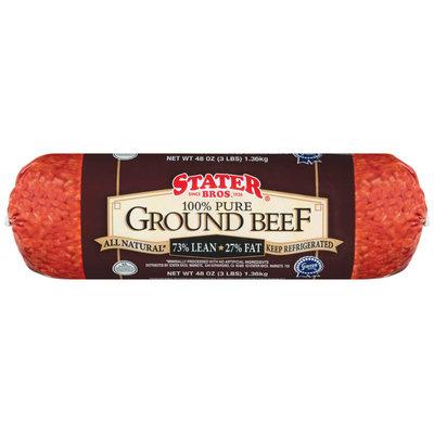 Stater Bros. 73% Lean Ground Beef 48 Oz Wrapper