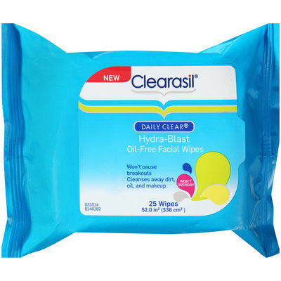 Clearasil® Daily Clear® Hydra-Blast Oil-Free Facial Wipes