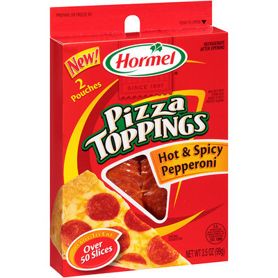 Hormel® Pizza Toppings Hot & Spicy Pepperoni 3.5 oz.