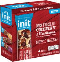 Init™ Dark Cherry & Cashews Nut & Fruit Bars 4-1.41 oz. Bars