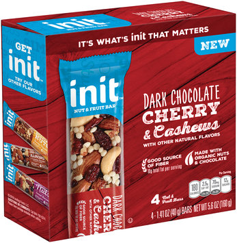 Init™ Dark Cherry & Cashews Nut & Fruit Bars 4-1.41 oz. Bars