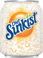 Sunkist Diet Orange Soda 8 Oz Can