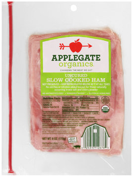 Applegate Organics® Uncured Slow Cooked Ham 6 oz. Pack