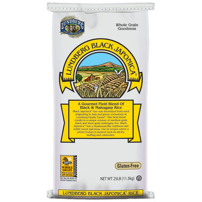 Lundberg Family Farms Ef Black Japonica Field Blend Eco-Farmed 25 Lb. Rice   Bag
