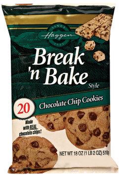 Haggen Chcolate Chip Cookies Break'n Bake 18 Oz Bag