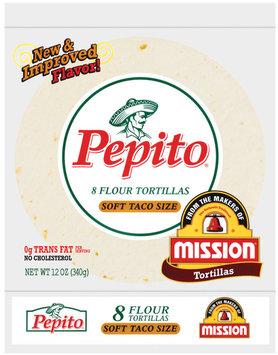 Pepito Flour Soft Taco Size 12 Oz Tortillas 8 Ct Bag