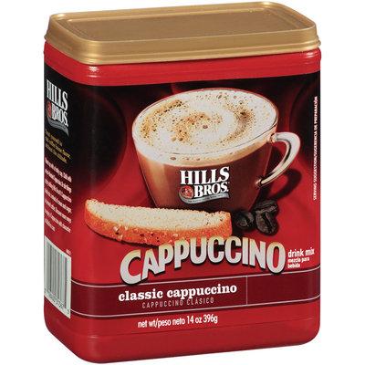 Hills Bros Classic Cappuccino Drink Mix 14 Oz Plastic Container