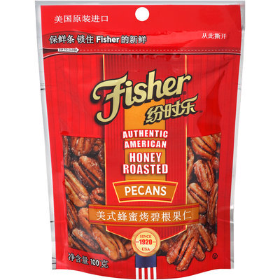 Fisher® Honey Roasted Pecans 100g Bag