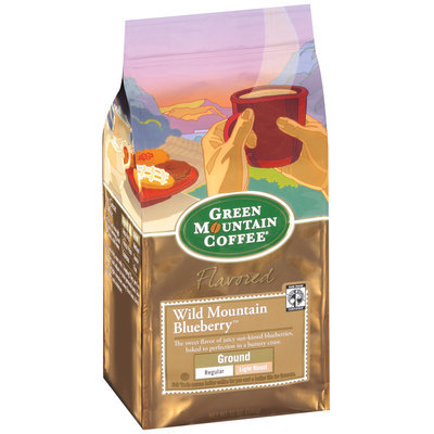 Green Mountain Coffee Roasters Flavored Wild Mountain Blueberry Ground Signature Coffee 12 Oz Stand Up Bag