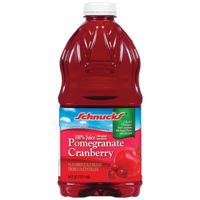 Schnucks 100% Pomegranate Cranberry Juice 64 Oz Plastic Bottle