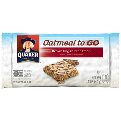 Quaker® Oatmeal to Go Brown Sugar Cinnamon Breakfast Bar 1.4 oz. Bar