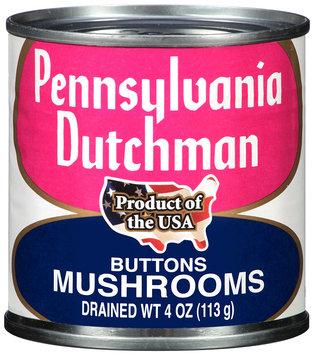 Pennsylvania Dutchman Mushrooms Buttons 4 oz. Can
