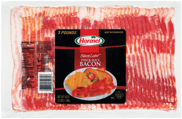 HORMEL BLACK LABEL Thick Slice Bacon 48 OZ WRAPPER