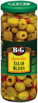 B&G Spanish Style Salad Olives 10 Oz Jar