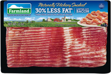 Farmland® Naturally Hickory Smoked 30% Less Fat* Center Cut Bacon 12 oz. Package