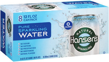 Hansen's Pure Natural Sparkling Water 8-12 fl. oz. Cans
