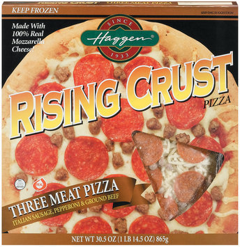 Haggen Rising Crust Three Meat Pizza 30.5 Oz Box