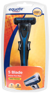 Equate™ 5 Blade Razor for Men with Trimmer 1 Piece Pack