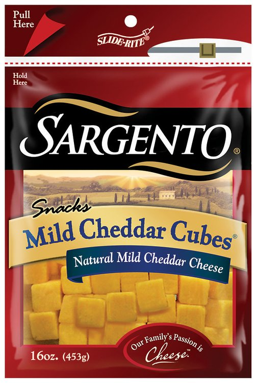 Sargento® Natural Mild Cheddar Cubes® Cheese Snacks 16 oz. Pack