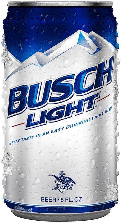 Busch Light Beer 8 fl. oz. Sleek Can