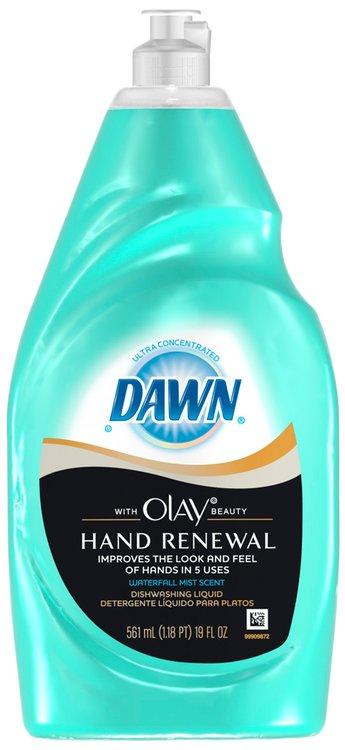 Dawn Ultra Hand Renewal with Olay Beauty Waterfall Mist Scent Dishwashing Liquid 19 fl. oz. Bottle