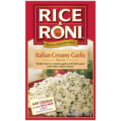 Rice-A-Roni Italian Creamy Garlic Rice Mix 5.5 Oz Box