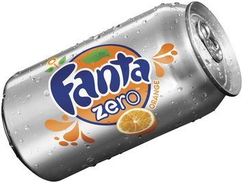 Fanta Zero Orange Soda 12 oz Can