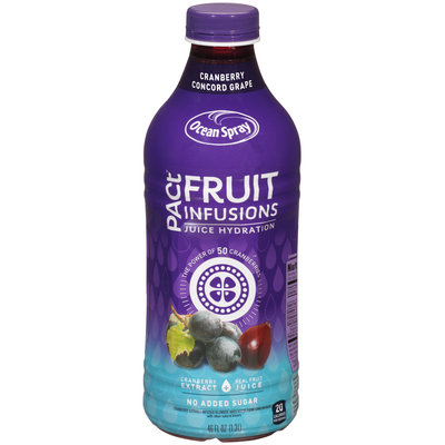 Ocean Spray® Pact® Fruit Infusions Cranberry Concord Grape Juice Drink 46 fl. oz. Bottle