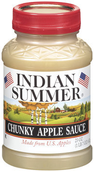 Indian Summer Chunky Apple Sauce 23 Oz Plastic Jar