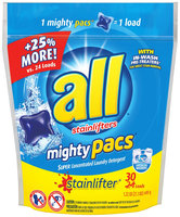 all® stainlifter® mighty pacs® Laundry Detergent 30 ct. Pouch