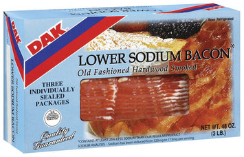 Dak Lower Sodium Old Fashioned Hardwood Smoked Bacon 48 Oz Box