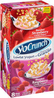 YoCrunch® Blended Lowfat Yogurt with Wholesome Granola Strawberry/Raspberry Variety Pack 8-6 oz. Cups
