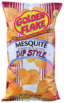 Golden Flake® Mesquite Barbeque Flavored Dip Style Potato Chips 5 oz. Bag