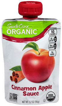 Santa Cruz Organic® Cinnamon Apple Sauce 3.2 oz. Pouch