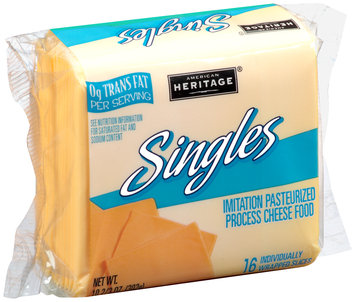 American Heritage® Imitation Pasteurized Process Cheese Food Singles 16 ct Pack