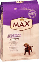 Nutro® Max™ Puppy Natural Chicken Meal & Rice Recipe Dog Food 30 lb. Bag