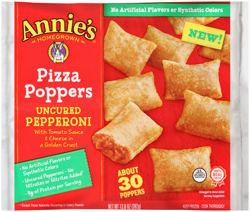 Annie's Homegrown® Uncured Pepperoni Pizza Poppers 13.8 oz. Bag