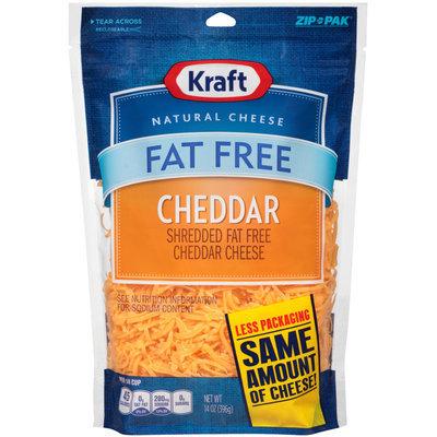 Kraft Shredded Fat Free Cheddar Cheese 14 oz. ZIP-PAK®