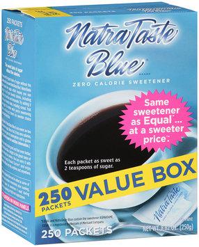NatraTaste Blue® Zero Calorie Sweetener 250 ct. Packet.
